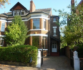 photo of a typical house in Didsbury, Manchester