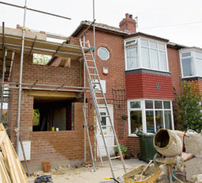building an extension to a house