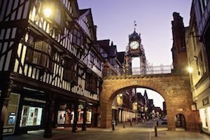 Eastgate area of Chester, Cheshire
